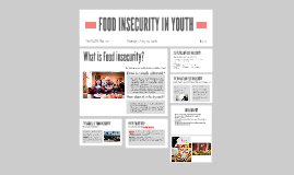 FOOD INSECURITY AMONGST YOUTH