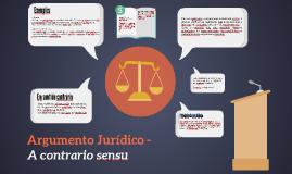 Argumento Jurídico - A Contrario Sensu