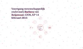 Copy of Wetenschappelijk onderzoek Barbera van Reijswoud, GIOS, KP 1