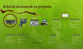 Árbol de acciones de un proyecto.