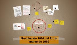 Resolución 1016 del 31 de marzo de 1989