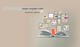 Copy of Lengua, Lenguaje y Habla