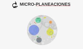 MICRO-PLANEACIONES