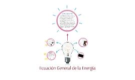 Ecuación General de la Energía