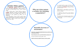 Why are video games a solution of teaching a population?
