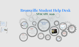 NYSCATE 2016 - Bronxville Student Help Desk