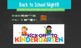 ROSIER - Kindergarten - BACK TO SCHOOL NIGHT!