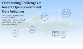 Outstanding Challenges in Recent Open Government Data Initia