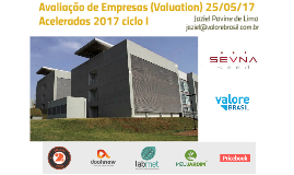 Palestra Valuation 25/05/17 Aceleradas do SevnaSeed
