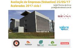Palestra Valuation 25/05/17 Aceleradas do SevnaSeed