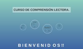 CURSO DE COMPRENSIÓN LECTORA.