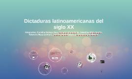 Dictaduras latinoamericanas del siglo XX