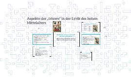 """Aspekte der """"triuwe"""" in der Lyrik des hohen Mittelalters"""