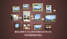 REGIMEN ECONOMICO EN EL MATRIMONIO