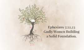 Ephesians 5:22,23 Submission