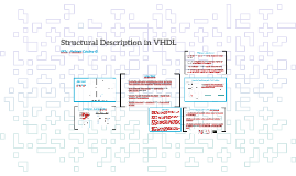 Structural Description in VHDL