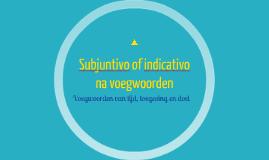 Subjuntivo na bepaalde voegwoorden