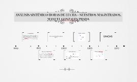 ANÁLISIS SISTÉMICO HORAS DE LUCHA - NUESTROS MAGISTRADOS, MA