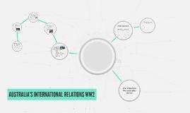 AUSTRALIA'S INTERNATIONAL RELATIONS