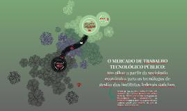 O MERCADO DE TRABALHO TECNOLÓGICO PÚBLICO: