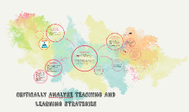 CRITICALLY ANALYSE TEACHING AND LEARNING STRATEGIES