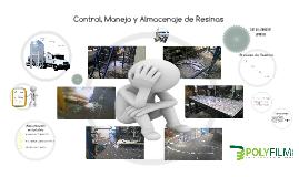 Control, Manejo y Almacenaje de Resinas