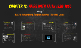 Copy of Chapter 12: Afire With Faith 1820-1850