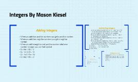 Integers By Mason Kiesel