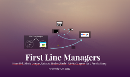 First Line Managers