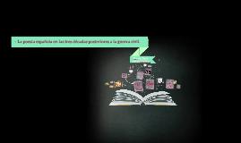 La poesía española en las tres décadas posteriores a la guer