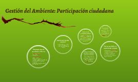 Gestión del Ambiente: Participación ciudadana