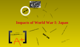 Impacts of World War I: Japan