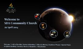 SDACC Worship - 26 April 2014
