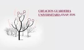 CREACION GUARDERIA UNIVERSITARIA ESAP, FDS