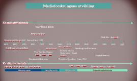 Medieforskning - Tidslinje MEVI102