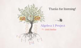 Algebra 1 Project