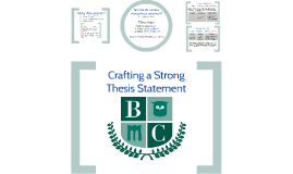 Copy of Crafting a Strong Thesis Statement (9 - 12)