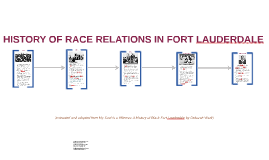 Fort Lauderdale Race Relations History