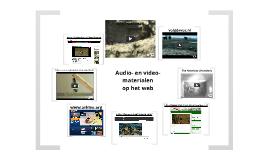 Audio- en videomateriaal op het web