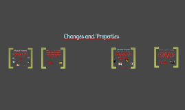Properties and Changes