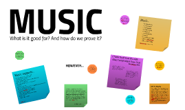 MUSIC: what is it good for?