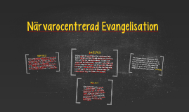 Närvarocentrerad Evangelisation