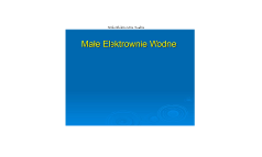 Male Elektrownie Wodne