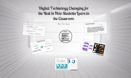 Digital Technology in the Classroom