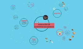EDUCACIÓN EN ALIMENTOS SALUDABLES