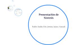 Presentación de Sintesis