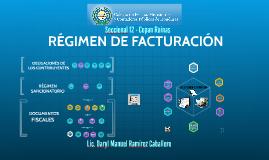 REGIMEN DE FACTURACION