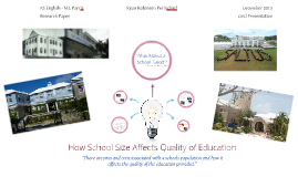 How School Size Affects Quality of Education