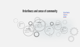 Orderliness and sense of community
