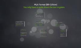 MLA Format (8th Edition)